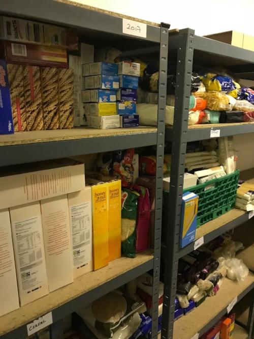 North Paddington Food Bank food supply
