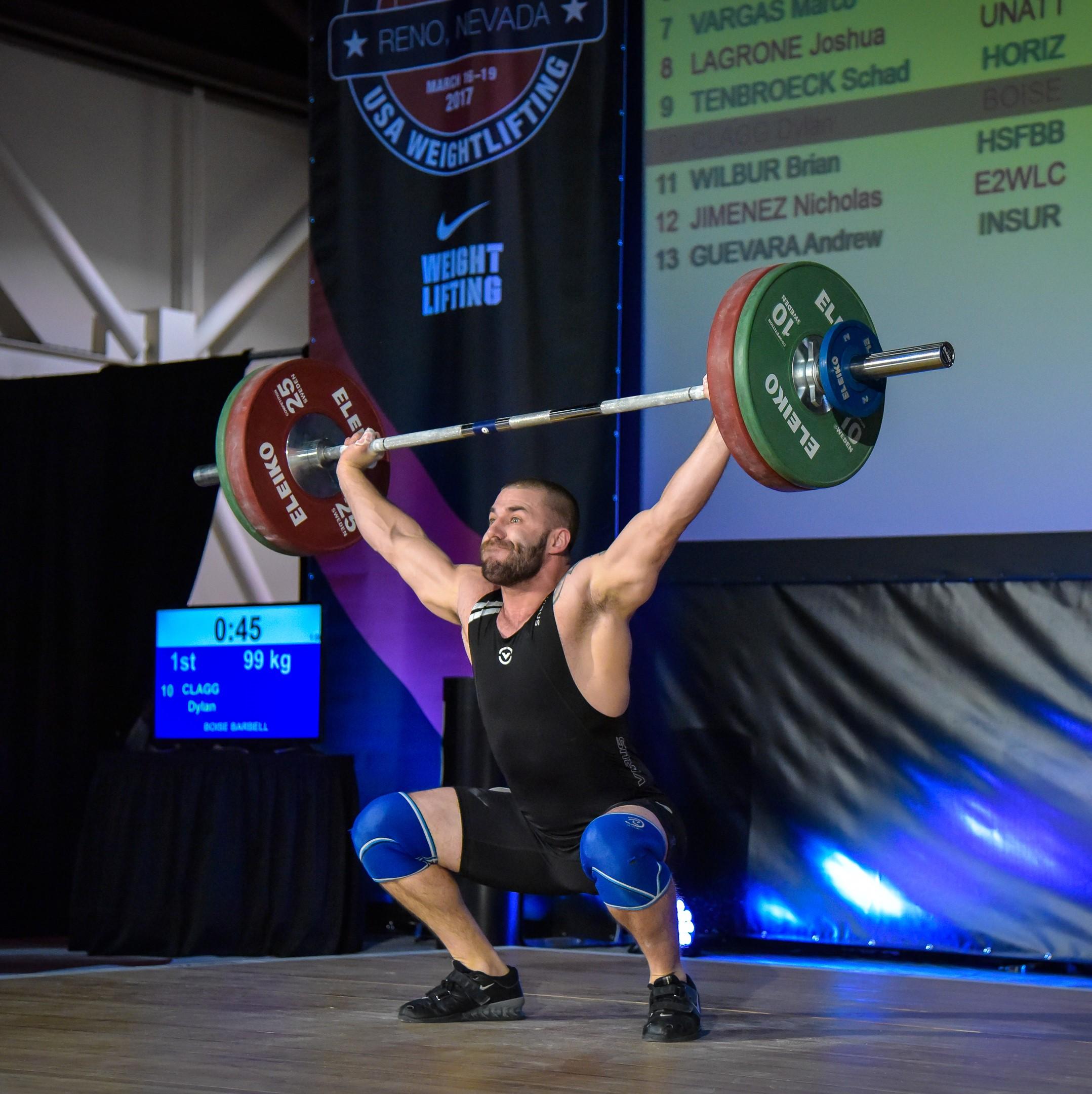 Dylan Clagg (94kg) out of Boise Barbell Club went 102/134/236 at the American Open Series I in Reno, NV.