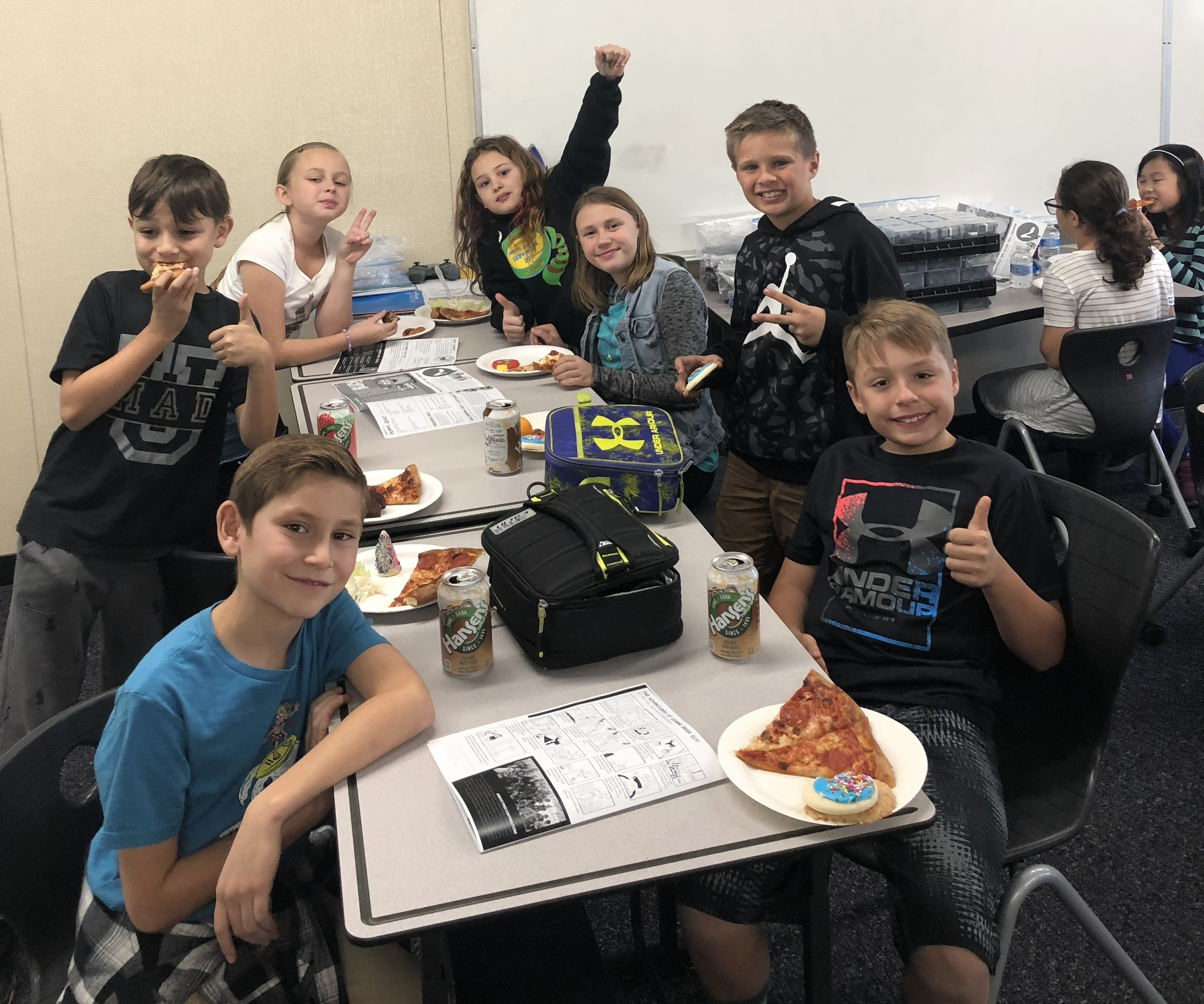 Arroyo times staff Celebrate their first issue of the year with a pizza party.