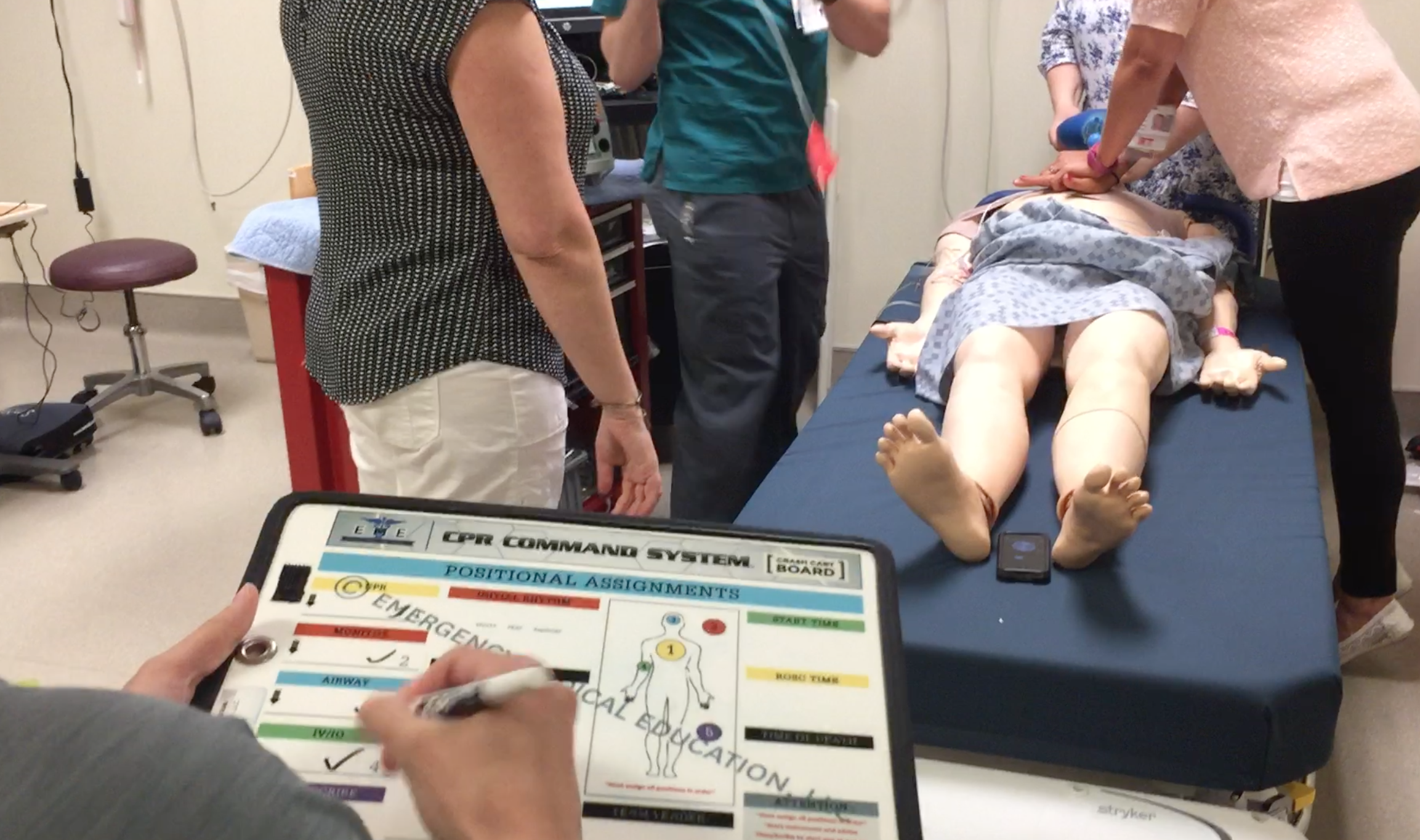 Training course using the CPR Command System (developed by Mark Sawdon).