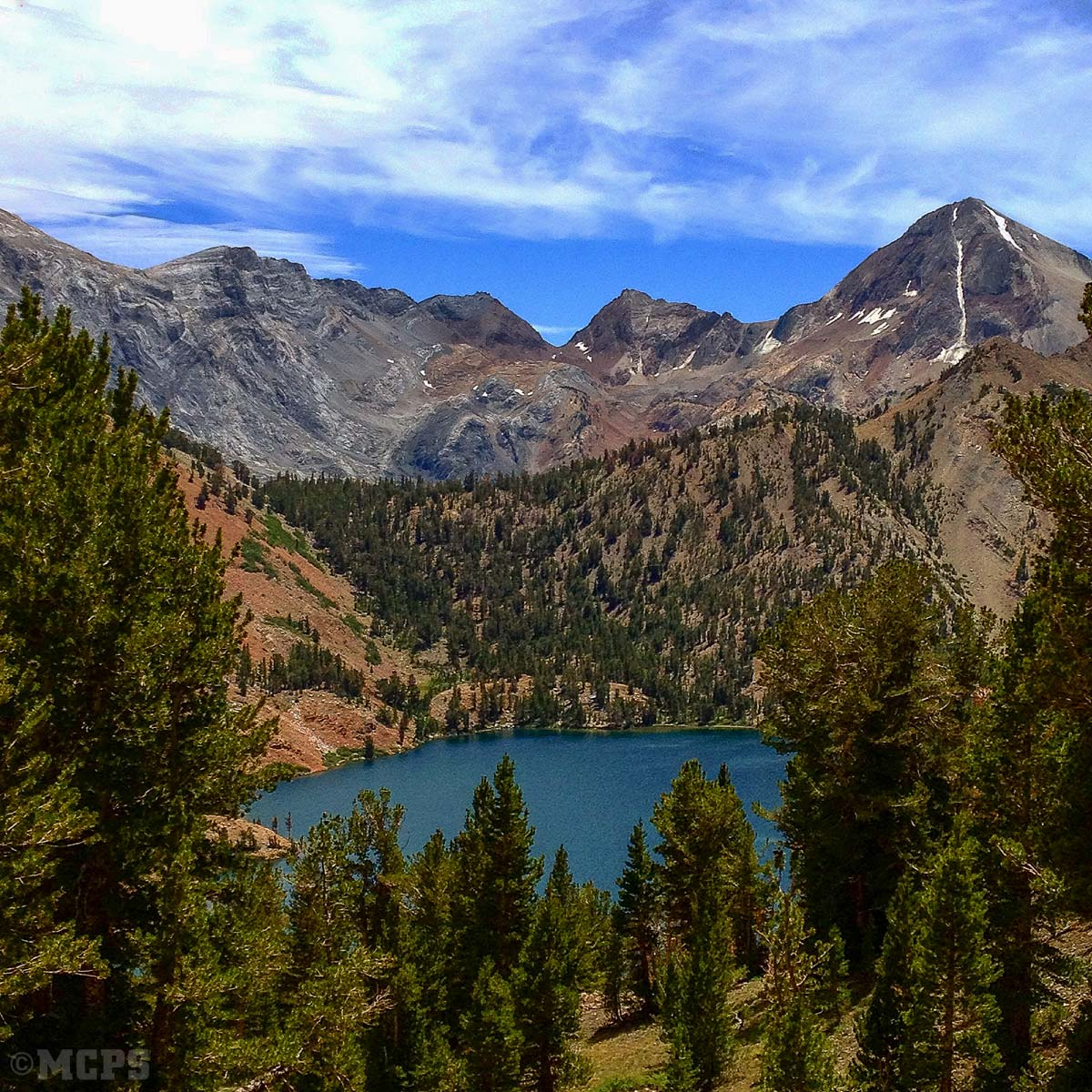 Mammoth pack trips in the High Sierra backcountry: The easiest access to Genevieve Lake in Convict Basin is by pack mules