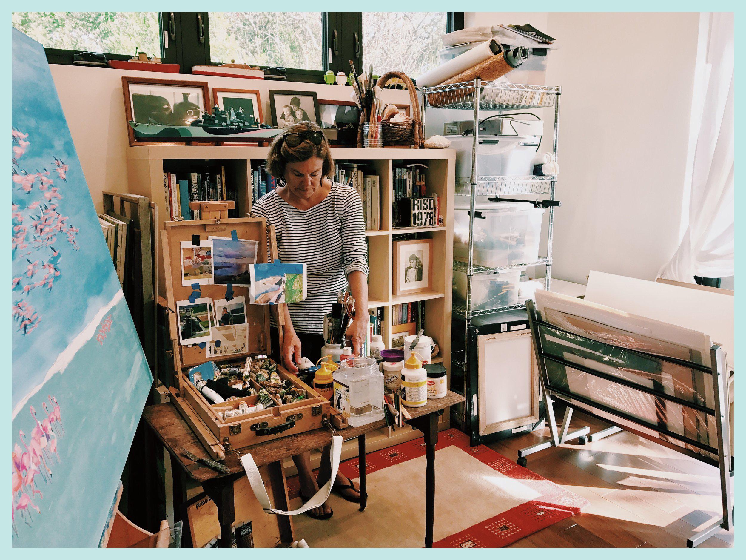 Catherine in her Florida studio