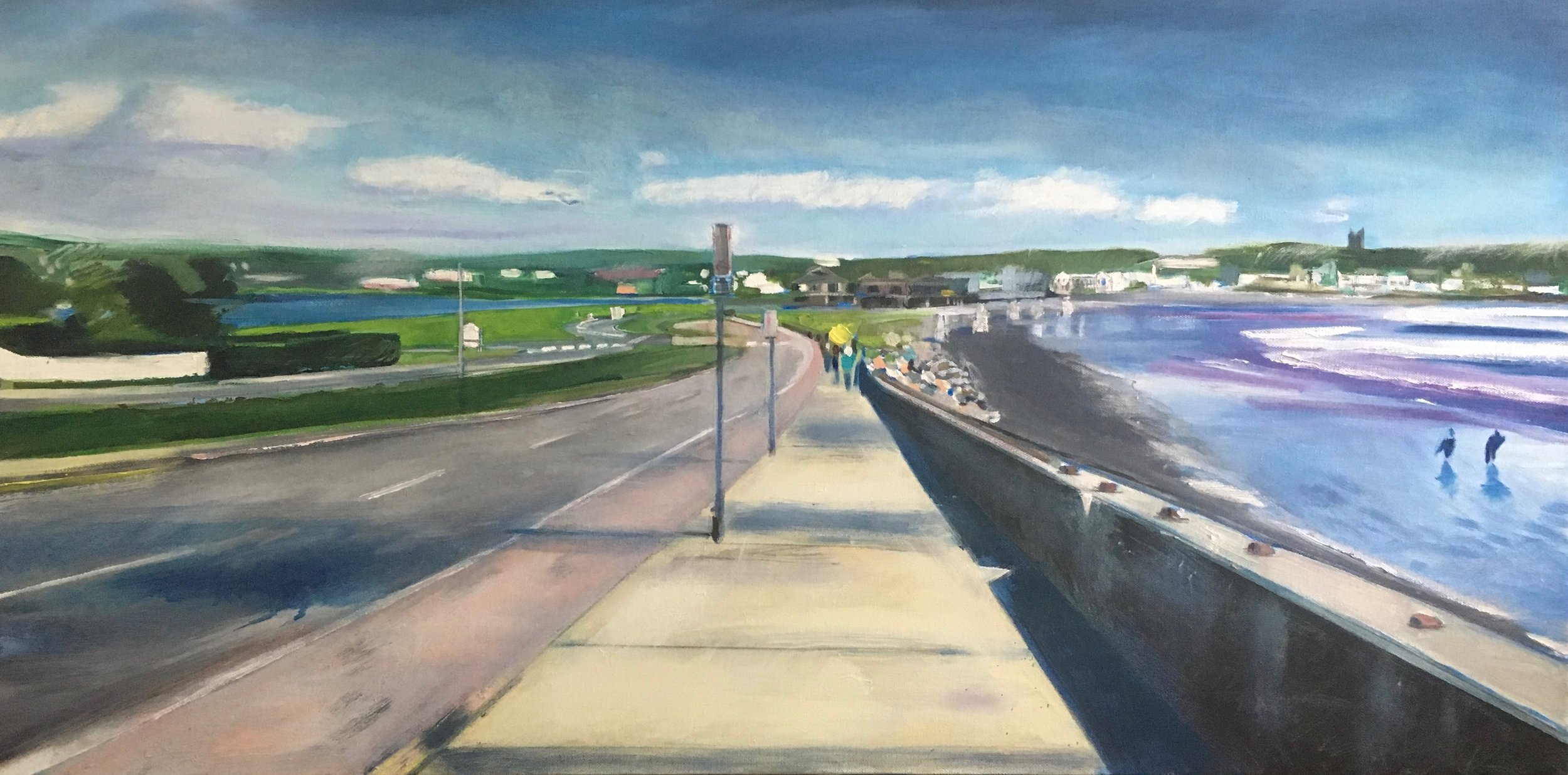Cliff Walk Looking East, 18 x 36