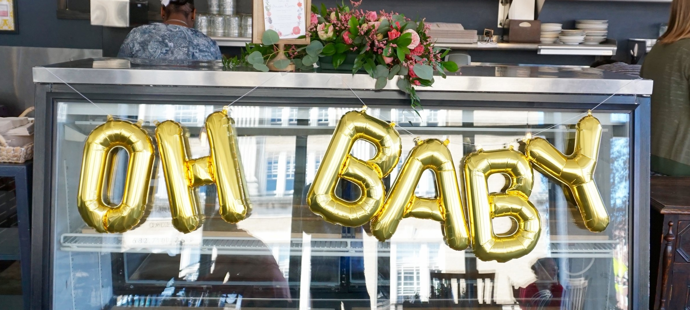 """""""Oh baby"""" Balloons from  OhShiny Paper Co. on Etsy"""
