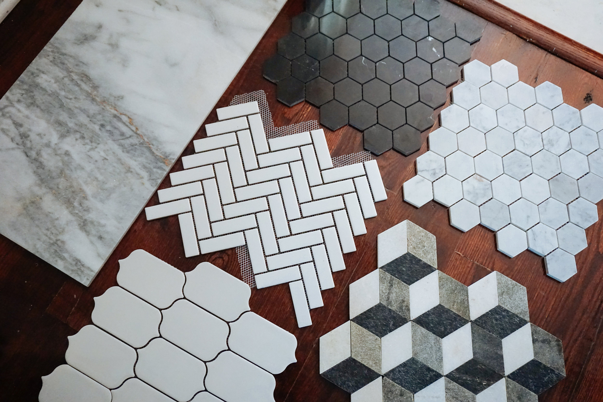 Above: a few of the [many] tile selections we had to choose from!
