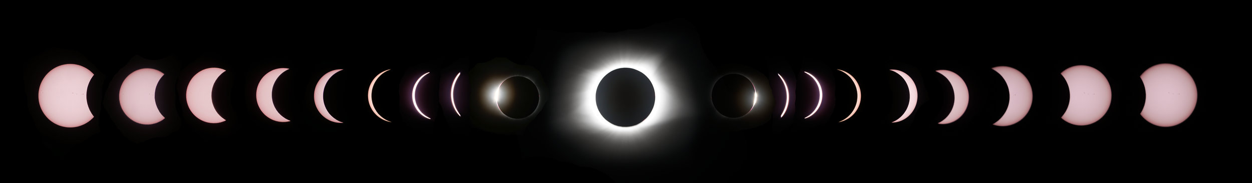 Shot 3 - Composite of the entire eclipse progression - Accomplished