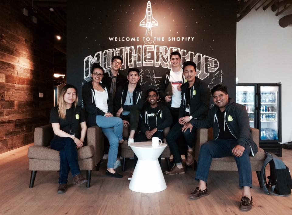 Squadify: The Shopify Waterloo intern team.