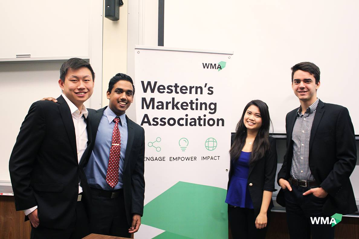 I joined a number of clubs in first year, with Western's Marketing Association being one of them.