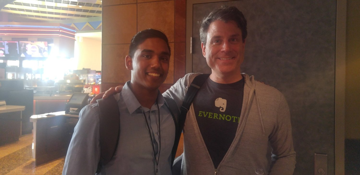 My favourite photo from my SF trip - getting to meet Evernote CEO (and Huron College graduate), Chris O'Neill.