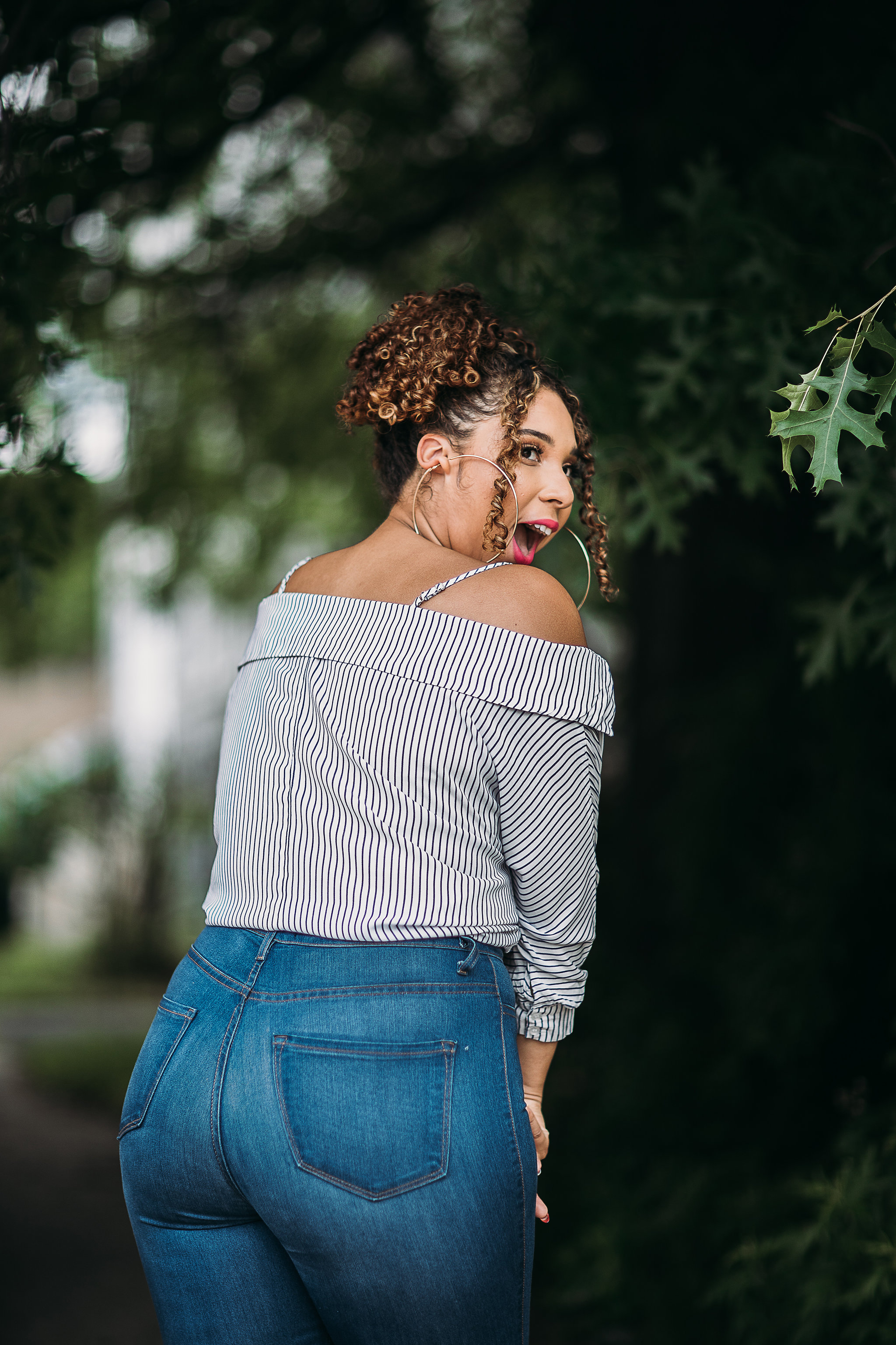 Literally the face I made when I tried these jeans on for the first time!