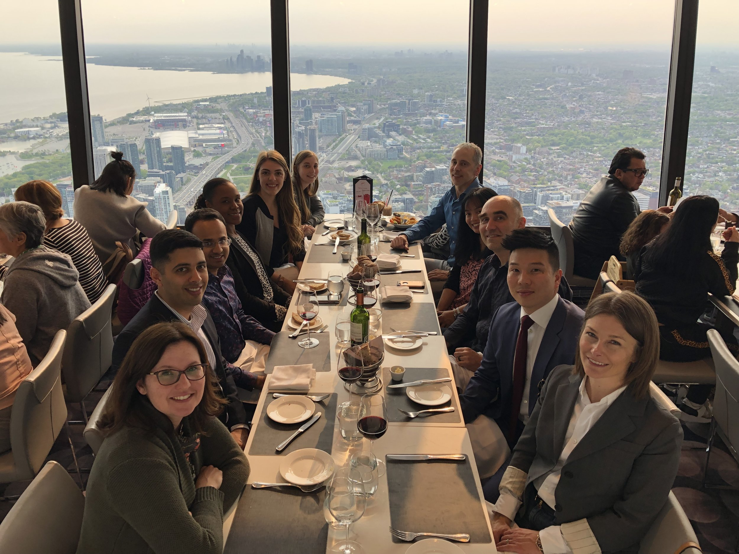 From far left to far right: Christina Cleroux, Summer Student; Coralie Robert, Summer Student; Lathia Stubbs, Associate; Ashwin Krishnan, Articled Clerk; Matt Hack, Articled Clerk; Melanie Young, Partner; Leisa MacIntosh, Partner; Enoch Wu, Associate; Janus Siebrits, Partner; Angeli Swinamer, Partner; Jamie MacGillivray, Founding Partner.