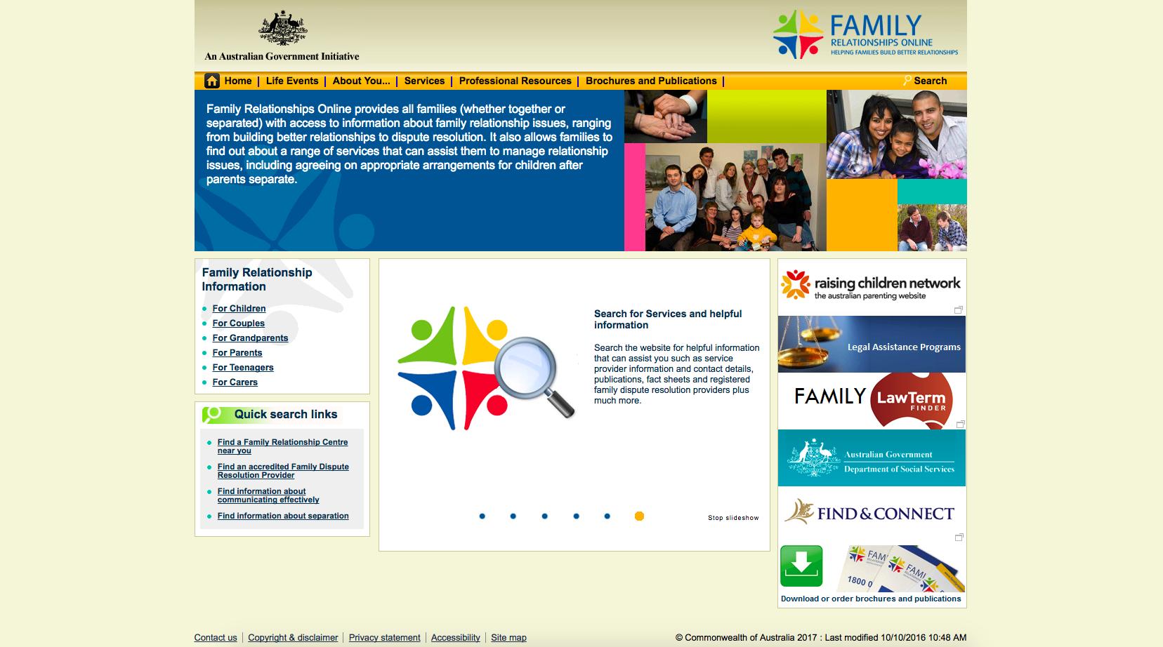 Family Relationships Online