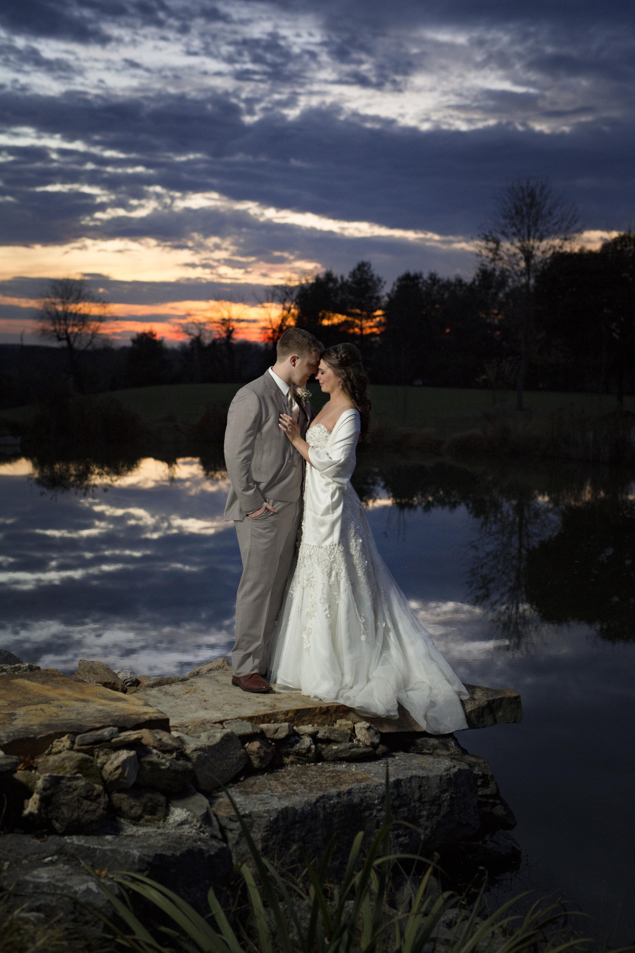 Glenn Ellen Farms Winter Wedding
