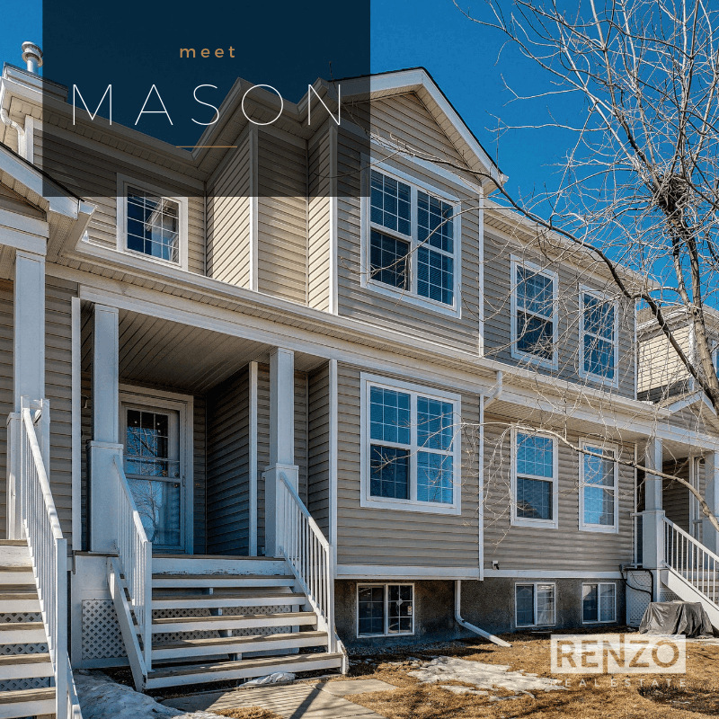 105-7707 Martha's Haven Park NE, Calgary - SOLD   The desirable townhouse with attached GARAGE in Martindale. This 2 bed/2.5 bath unit offers a timeless white kitchen, open plan layout, covered patio, and a DUAL MASTER layout - each with ensuite and walk-in closet.