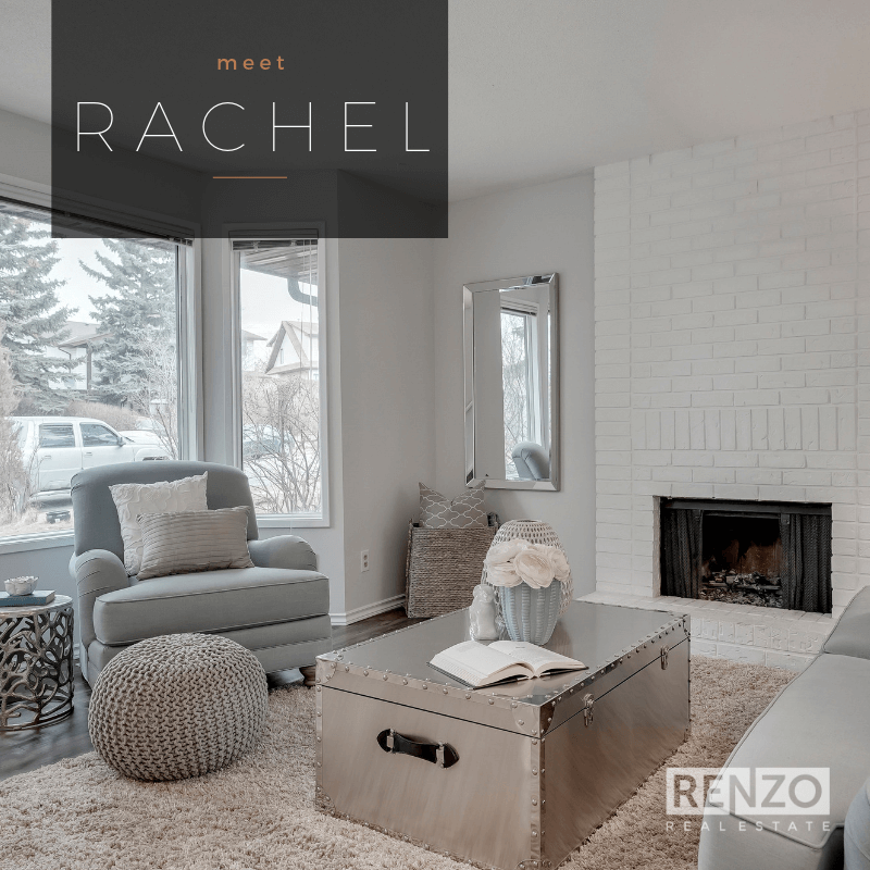 404 Ranch Glen Place NW, Calgary - SOLD   The 3-bedroom semi-detached in Ranchlands. The welcoming living room features a bay window allowing the light to flow in and a beautiful wood-burning FIREPLACE with floor-to-ceiling white BRICK. Fenced yard. Great value and no condo fees!