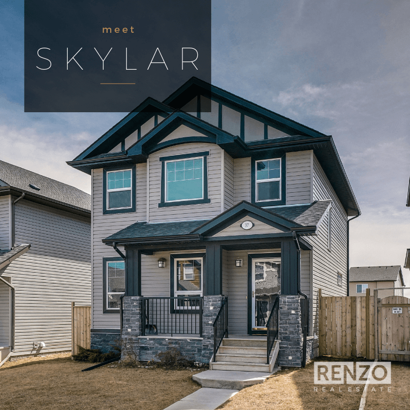 37 Skyview Point Common NE, Calgary - SOLD   The 4 bed/3.5 bath home with double GARAGE and finished basement in Skyview Ranch. Fantastic CURB appeal with stone-clad front porch. Enter to a BRIGHT floor plan with gleaming HARDWOOD floors.