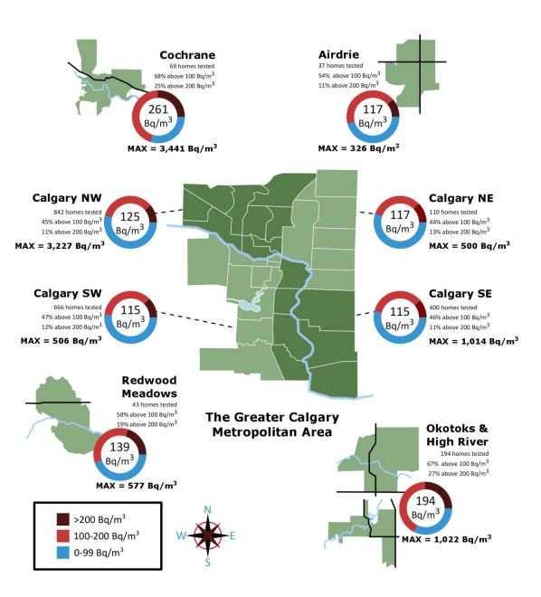 Calgary Radon Map