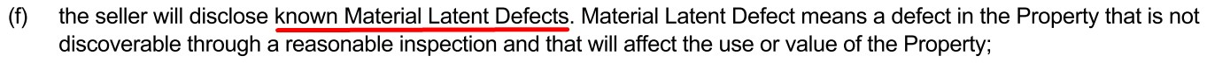 Material Late Defects Clause in Alberta Contract