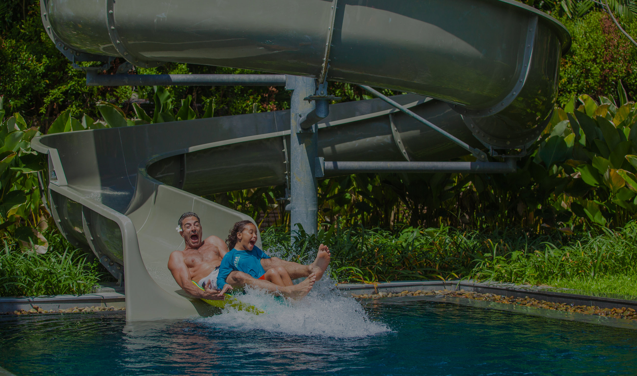 PICTURE FITNESS AND WELLNESS FACILITIES,WATERSLIDES AND INSTRUCTIONAL KITCHENSEXCLUSIVELY YOURS -