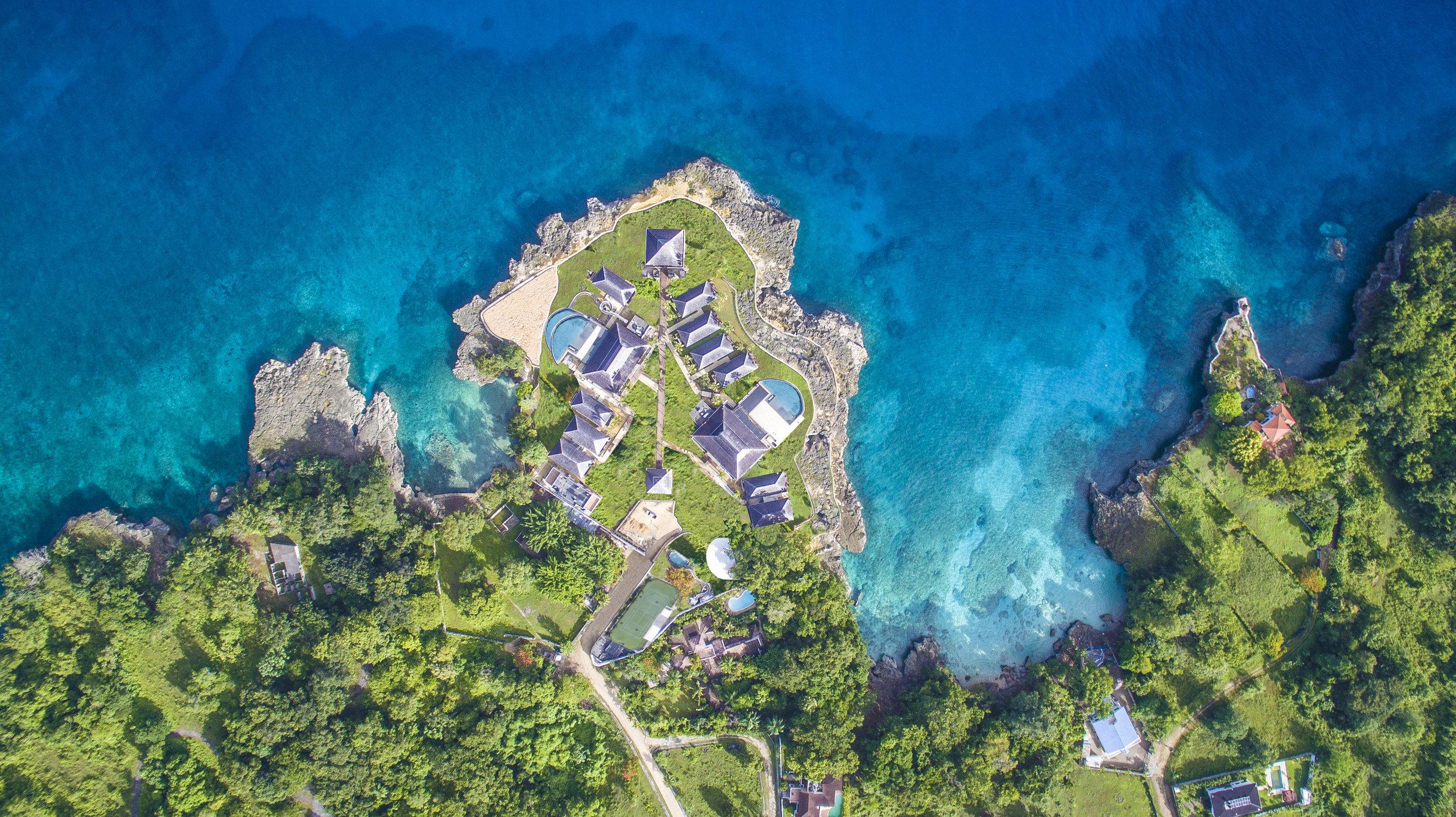 リゾートの空中写真
