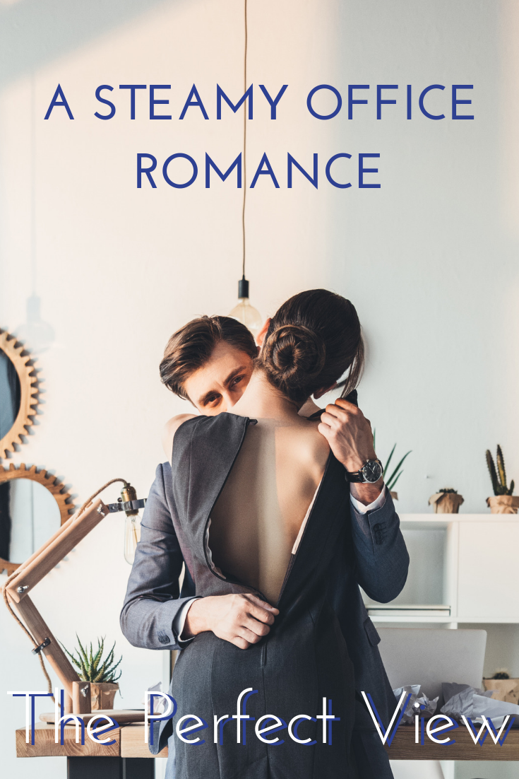 the perfect view office romance kiss