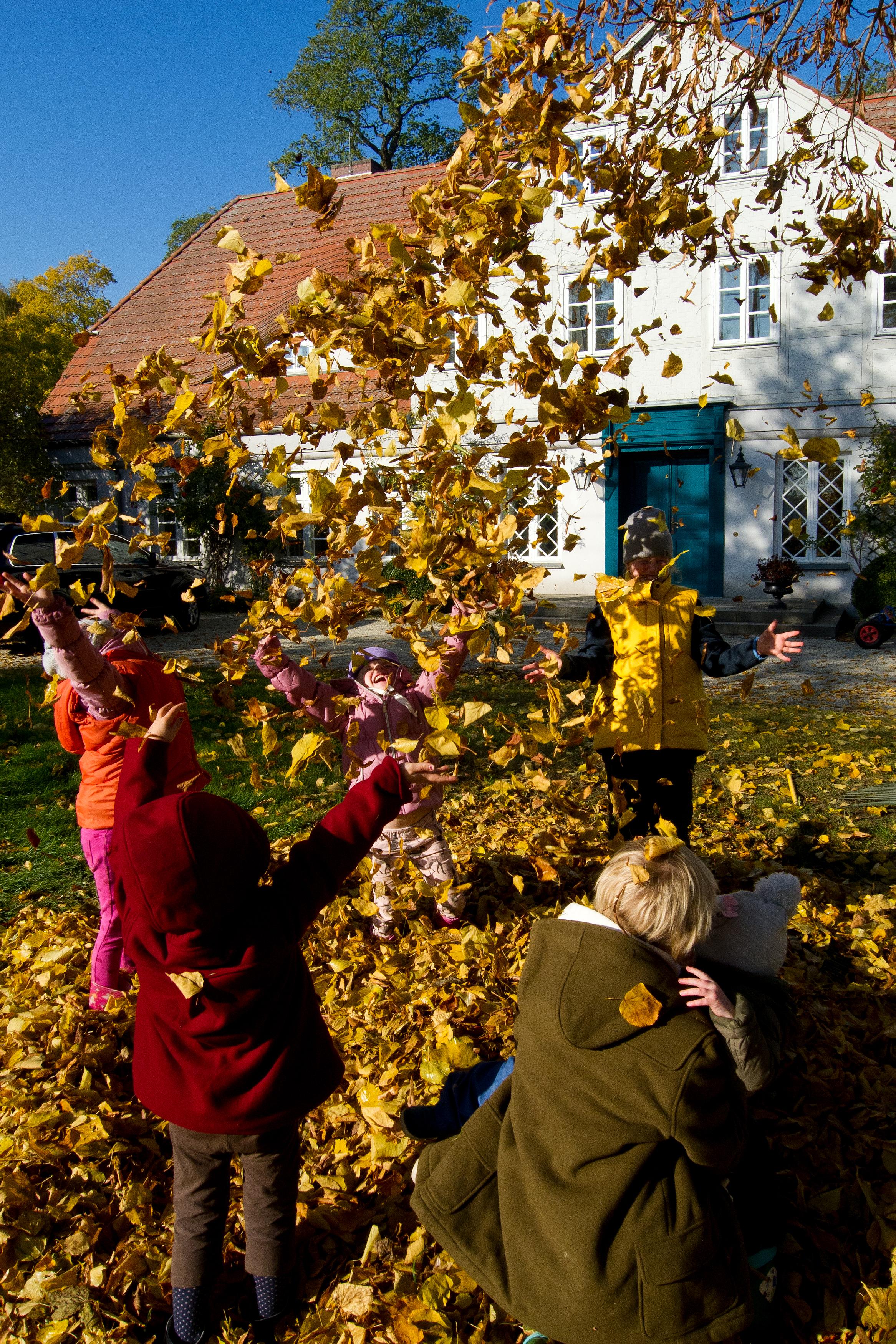 Herbst vorm Gutshaus