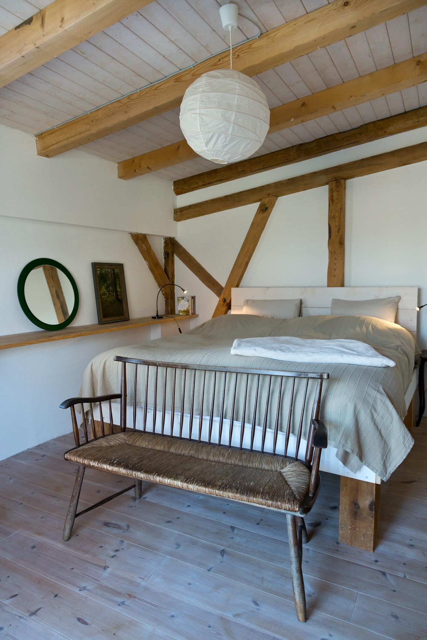 Schlafzimmer in der Biberburg Alte Schmiede