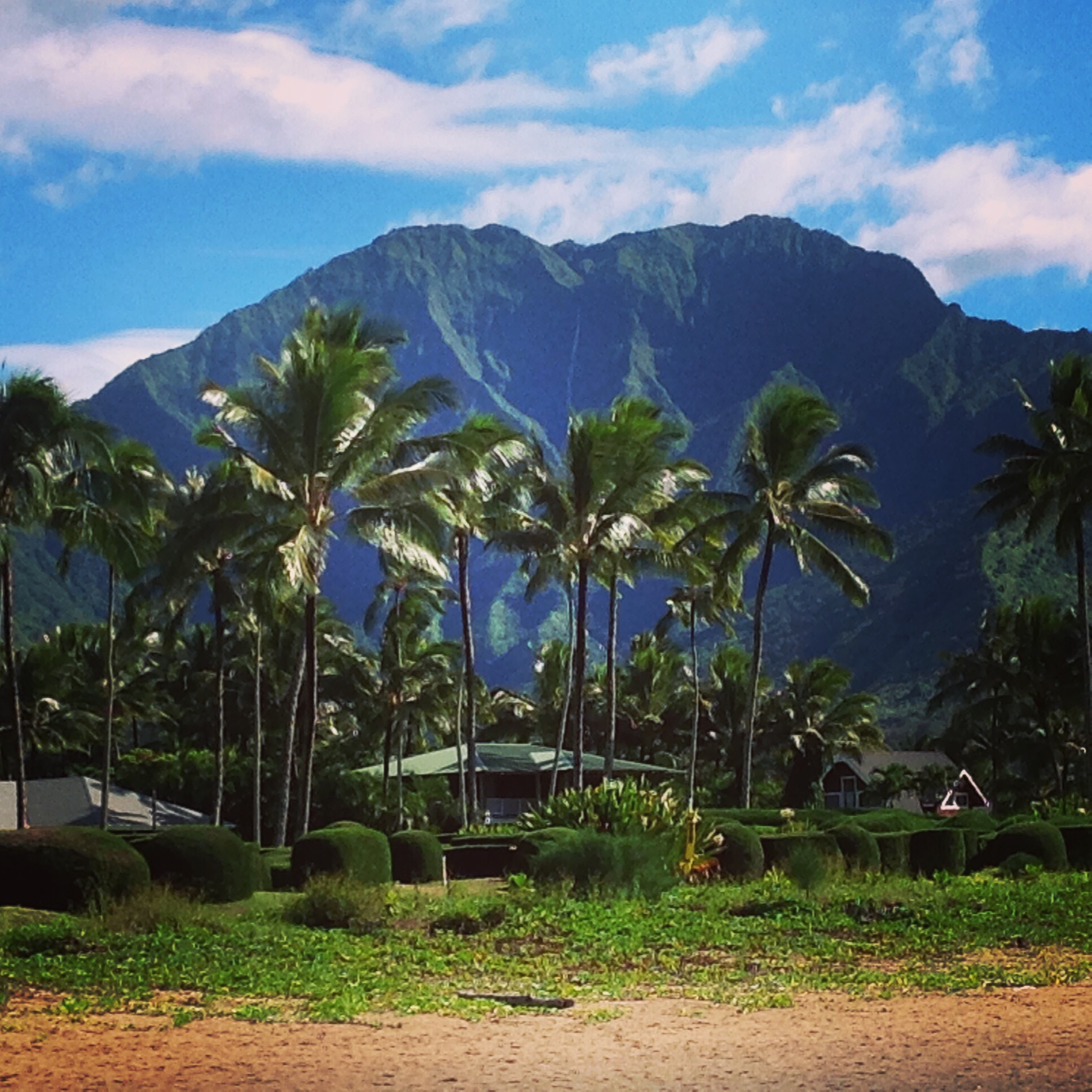 Stunning backdrop of Hanalei Bay