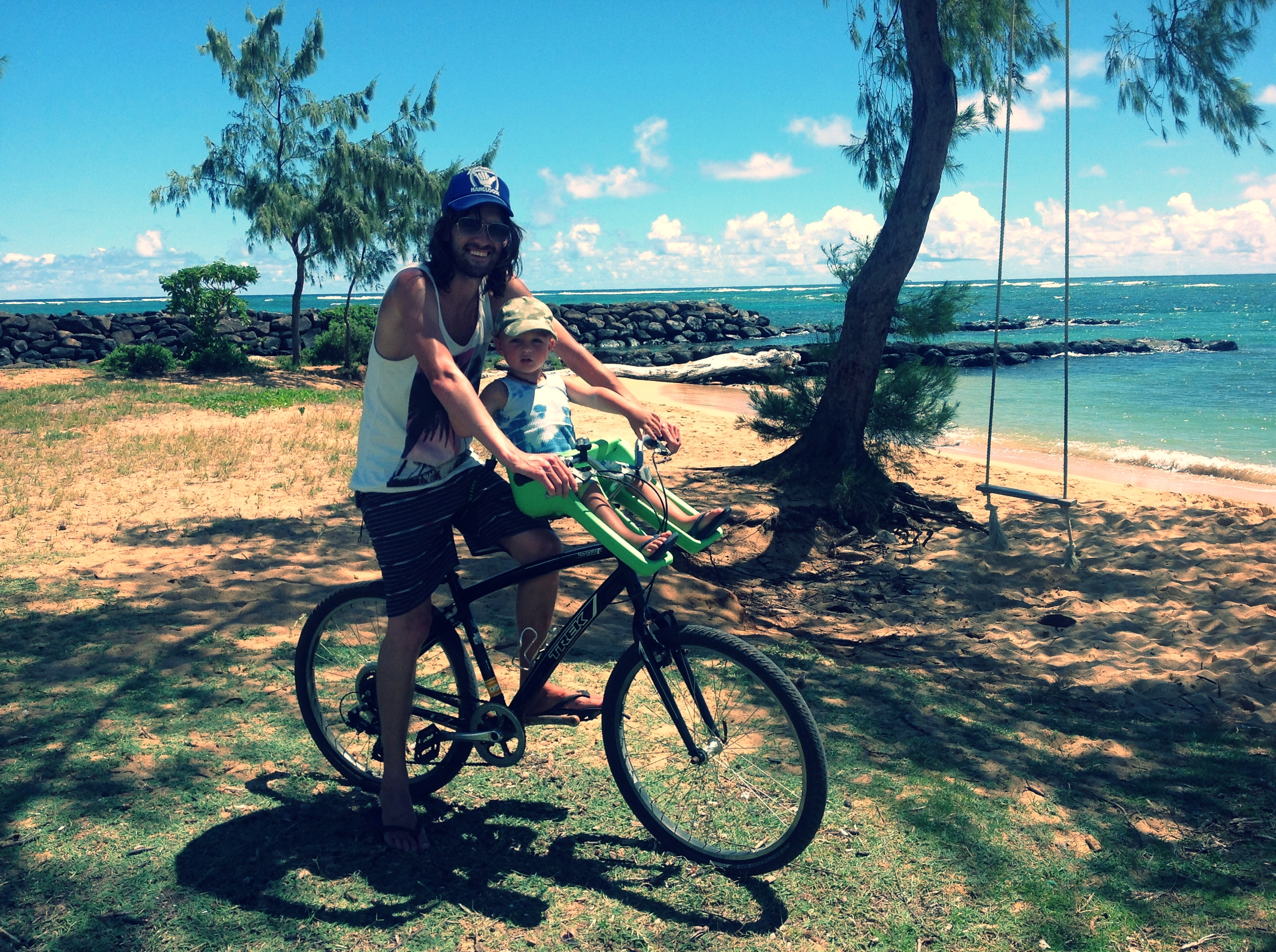 Exploring the scenic Kapa'a Bike Path