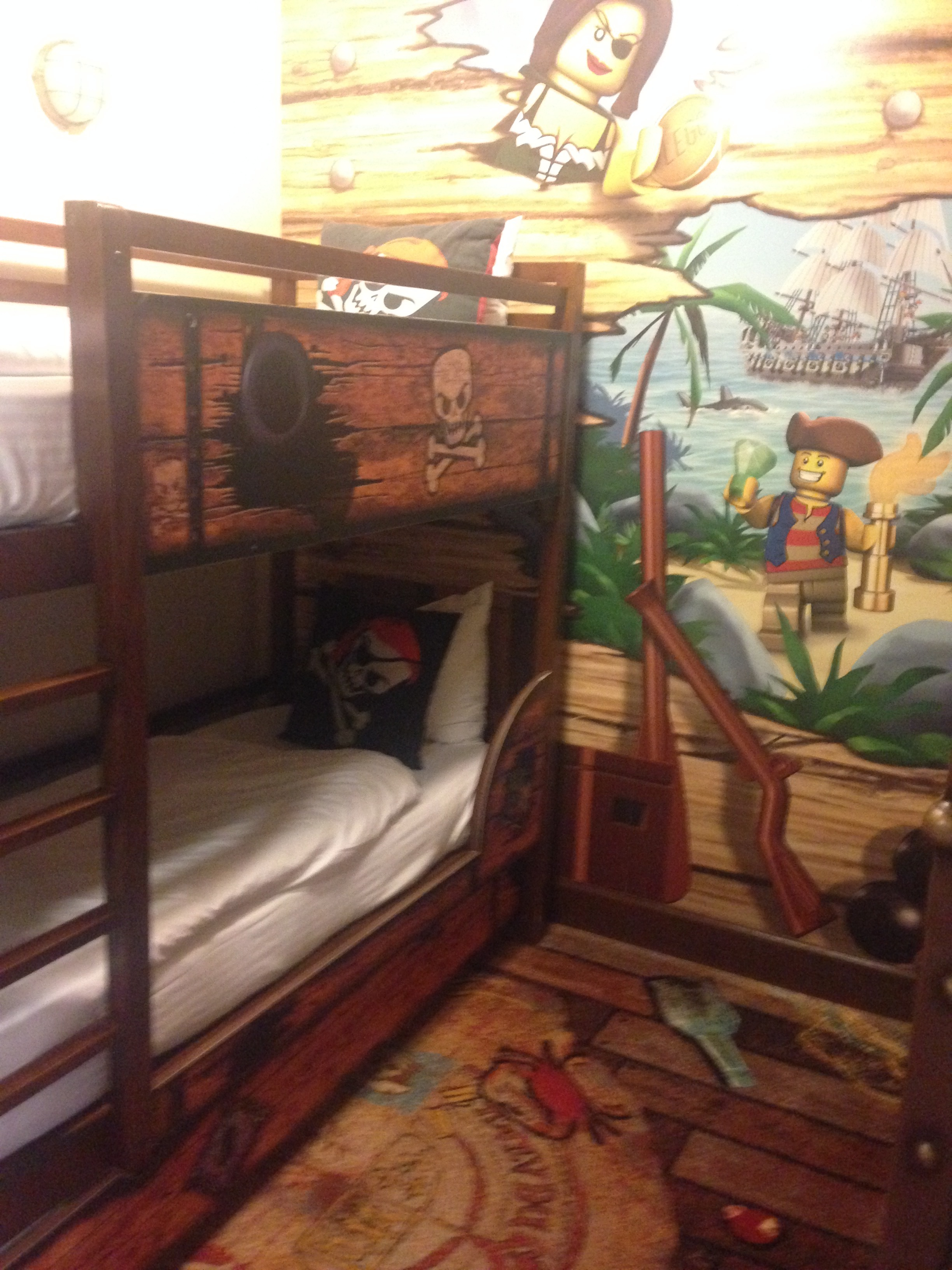 The kids area and bunk beds