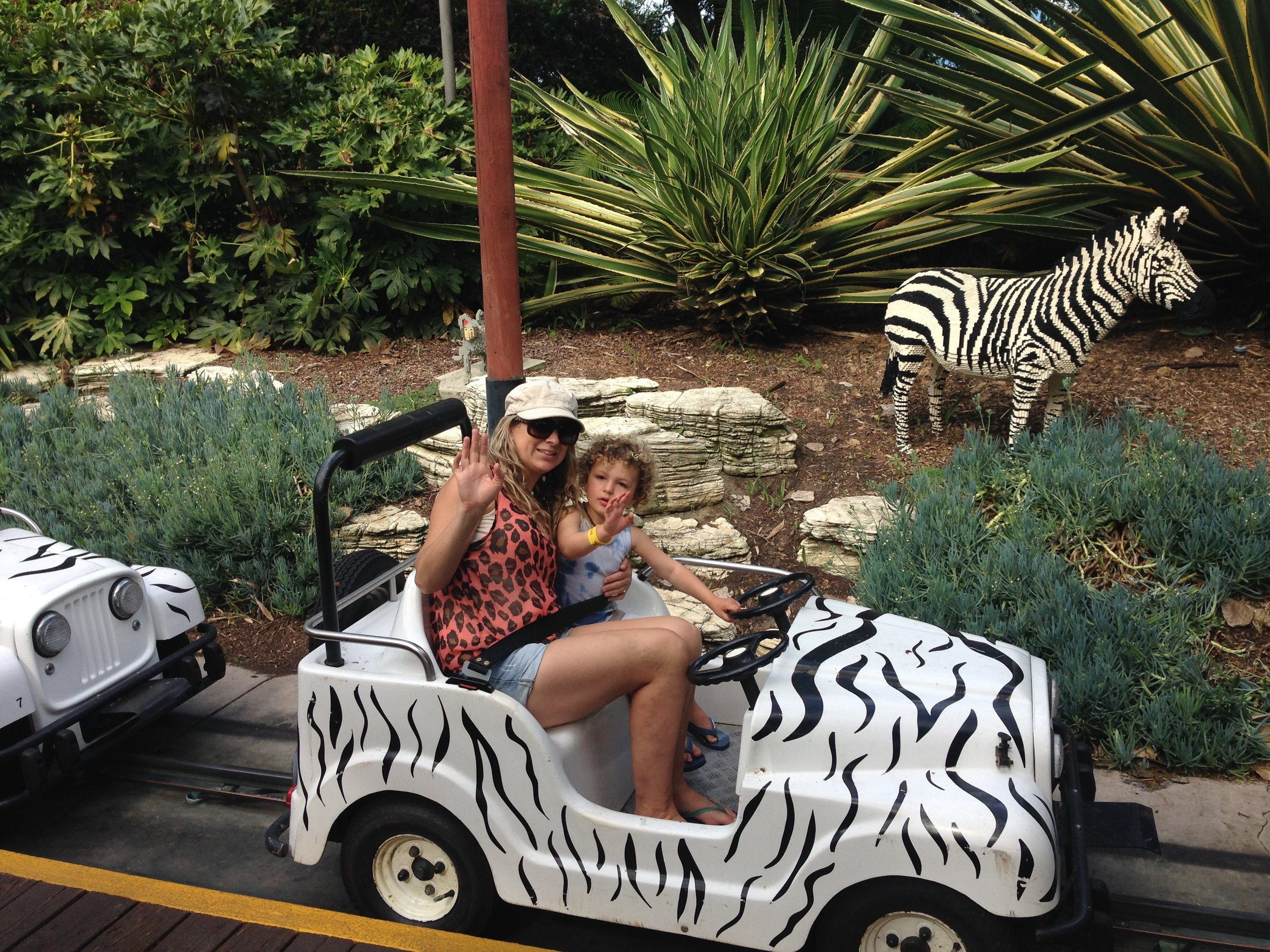 The Safari Trek ride with it's life sized Lego animals was a hit with Bodie