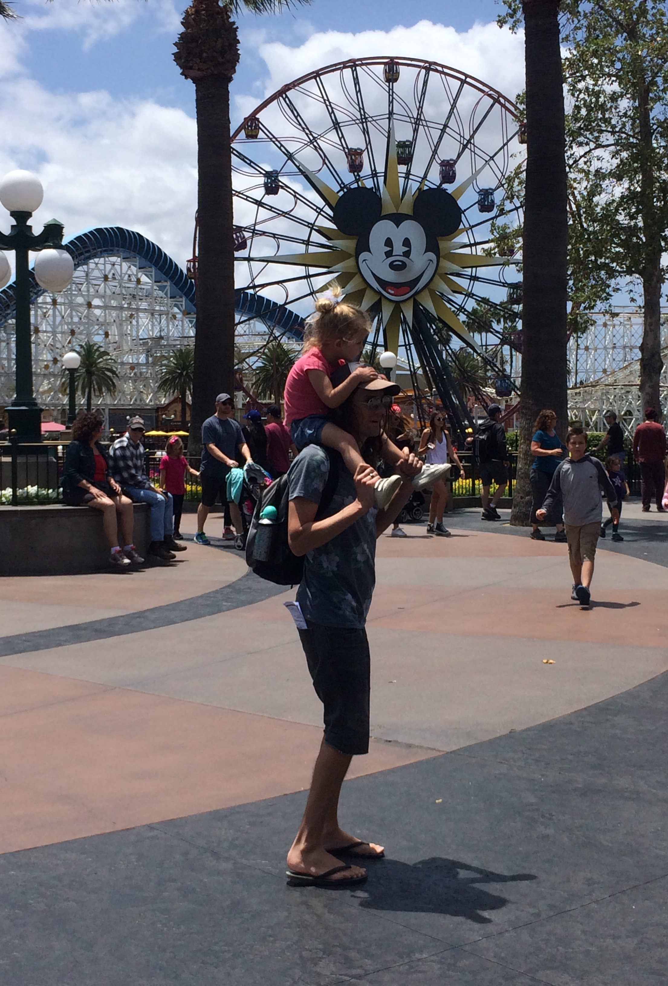 Catching a ride at California Adventure Park