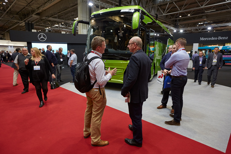 NEC Birmingham trade show photographer mercedes evo bus