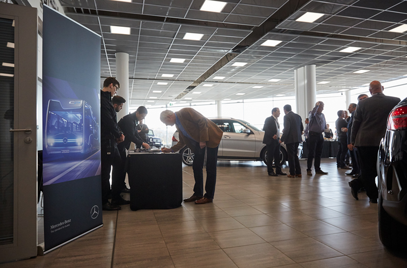 Surrey event photographer at mercedes Benz world weybridge