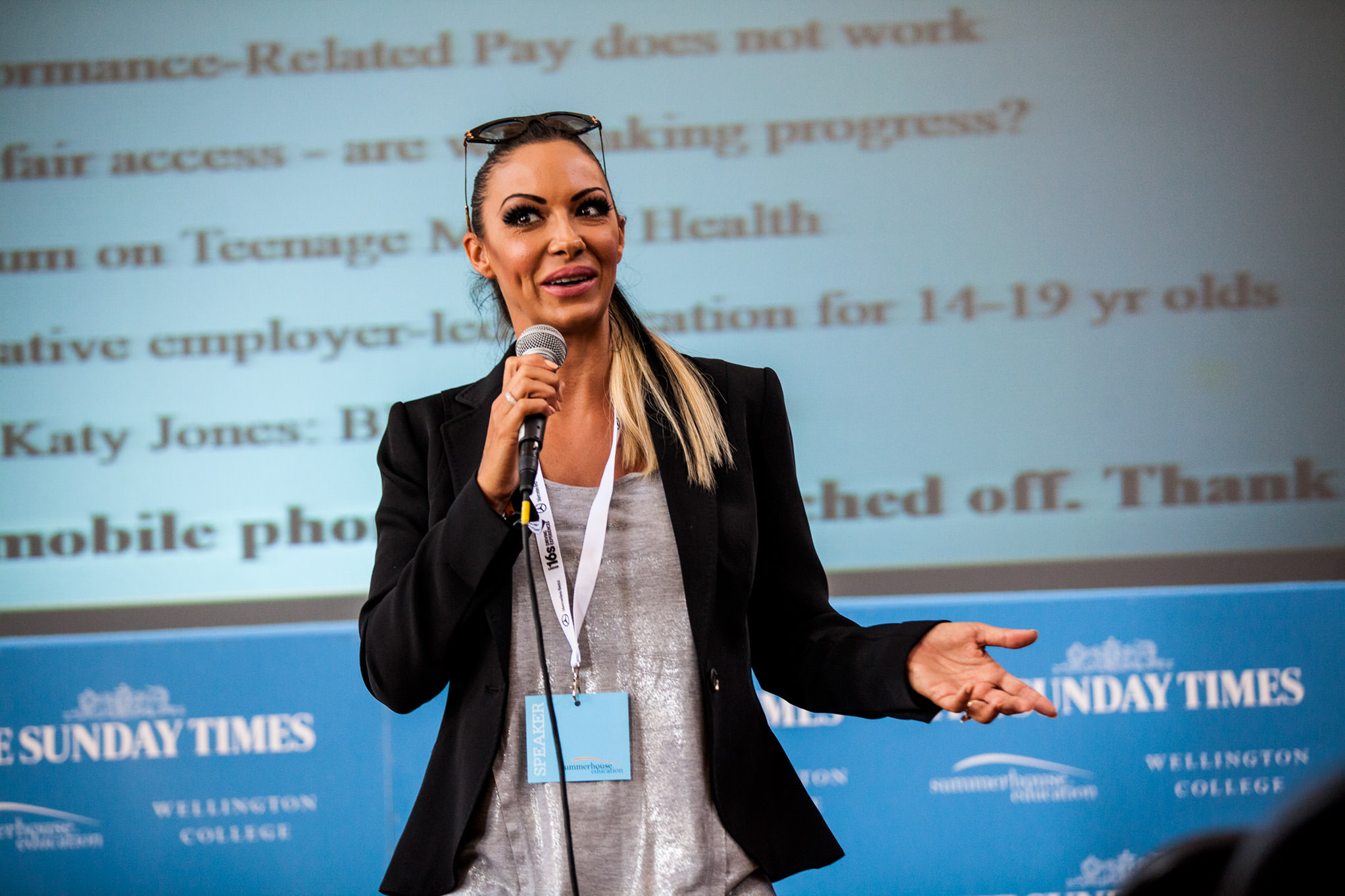 Jodie marsh Sunday times festival of education