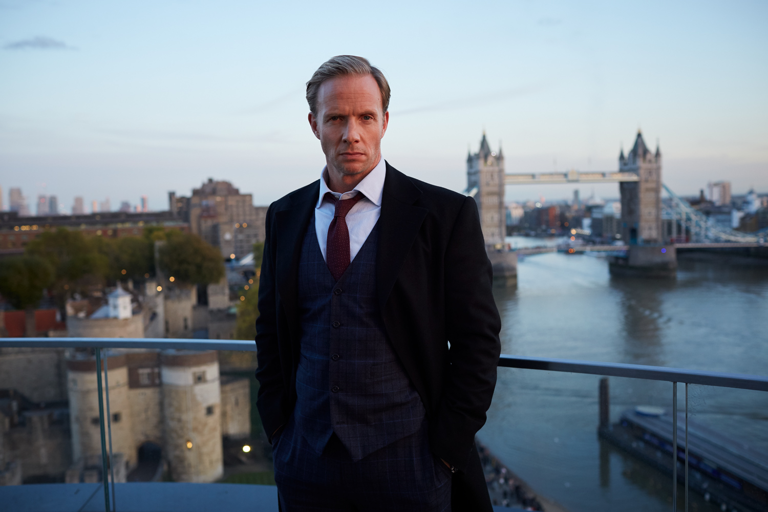 Rupert Penry Jones on location in London on Lucky Man Series 3