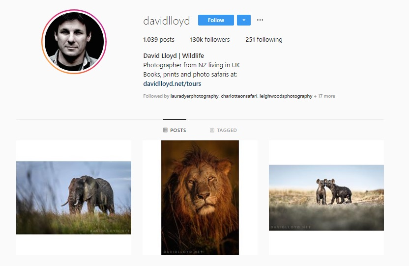 Click for  David Lloyd's Instagram