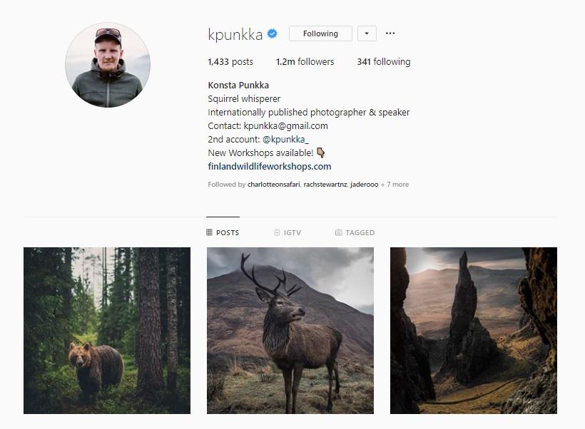 C l ick for  Konsta Punkka's Instagram