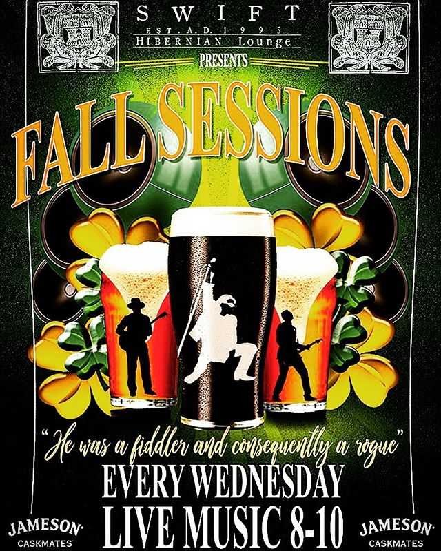 The summer sessions were such a huge success we've decided to keep it going through the fall!. With our kind sponsors @jameson_us  We've been blessed to keep our favorites @racketeersmusic and #chriscampion who'll be alternating every Wednesday night at 8pm . #supportlocalmusic #jamesoncaskmates