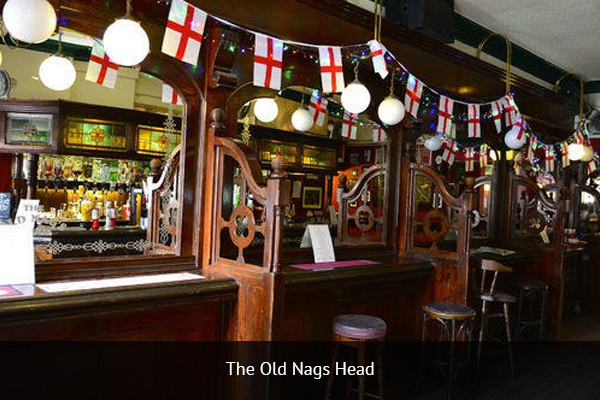 THE OLD NAGS HEAD |  +44 161 832 4315  Old Nags Head is the perfect pub for diehard Manchester United fans. This pub screens all of the Manchester United first team games, as well as some reserve and U19 games.   Address:  19 Jacksons Row, Deansgate, Manchester M2 5WD