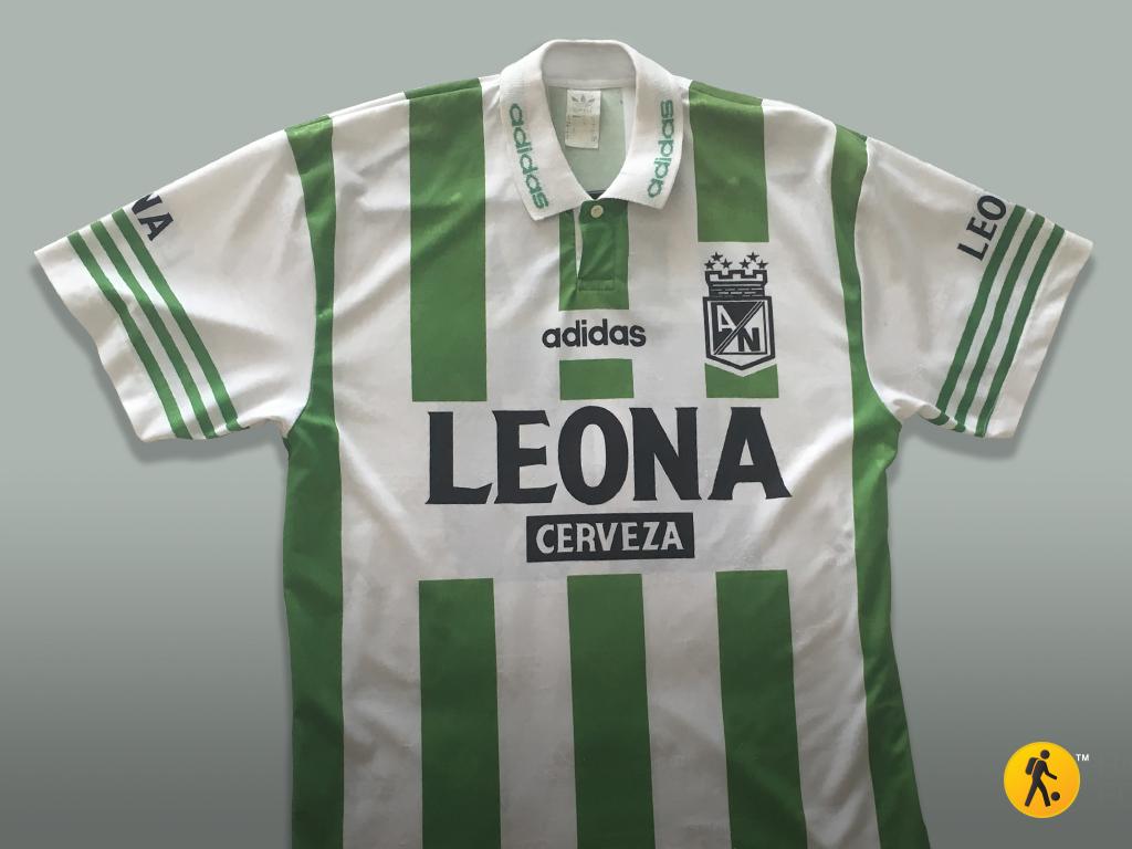 A los 13 años use todos mis ahorros para comprar mi primera camiseta de Atlético Nacional. Temporada 1995-1996