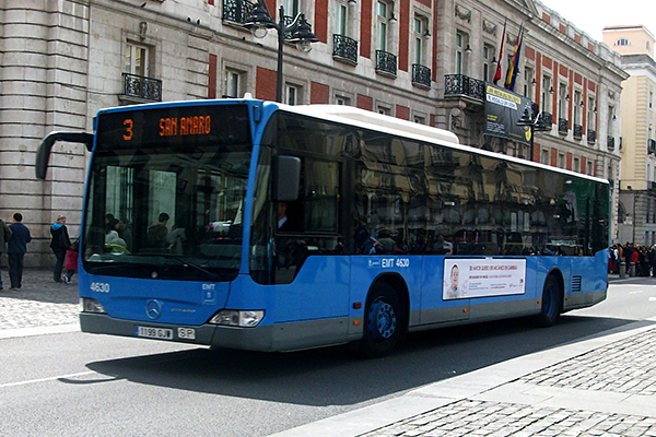 BUS  |  website  Most public buses in Madrid run from 6am-11.30pm daily, with buses running every 10-15mins or so. Bus fares run for €1 per trip.
