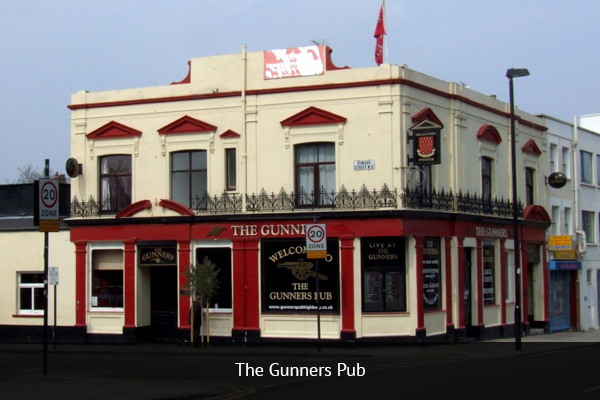 THE GUNNERS PUB |   +44 20 7359 2467    Great option for the Arsenal fans. This pub has the biggest collection of memorabilia outside of the club's museum. The pub has a heated beer garden and multiple TV screens. Awesome experience on a match days. Only a 9-minute walk to the Emirates Stadium.   Address:  204 Blackstock Rd, London N5 1EN