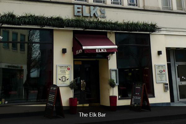 THE ELK BAR |   +44 20 7385 6940       The Elk Bar is located in Fulham, West London. Elk Bar is the perfect gathering place for football fanatics, with a HD projector and a large amount of flat screens that allow customers to watch the best football teams and matches.   Address: 587-591 Fulham Rd, London SW6 5UA