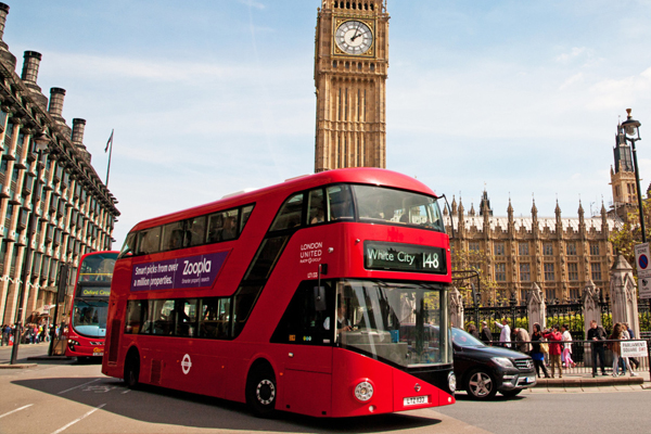 BUS  |  website  London's famous red buses are a quick, convenient and cheap way to travel around the city, with plenty of sightseeing opportunities along the way. The Central London Bus Guide will be sufficient for most travelers.