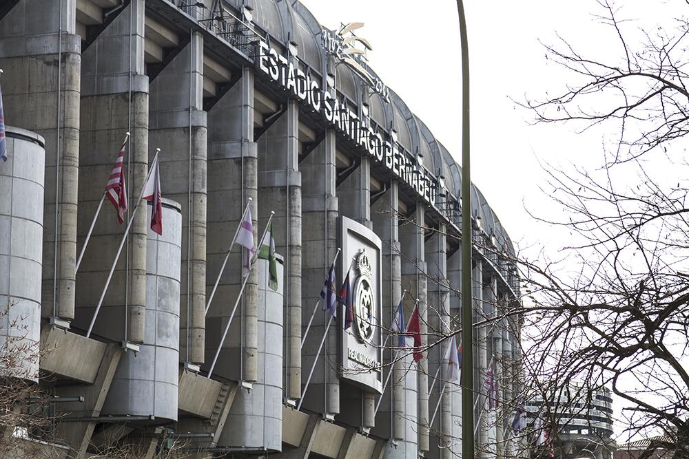 First glance at The Bernabeu stadium.