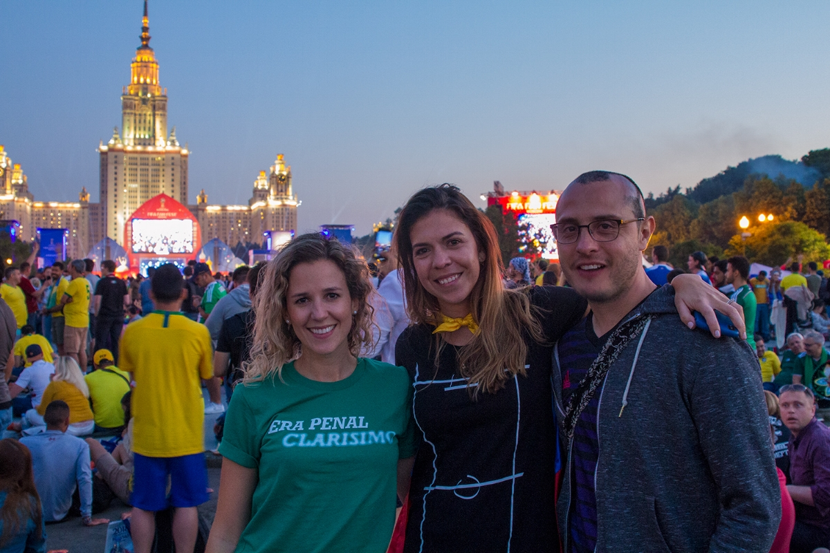 Good times at the FIFA Fan Fest in Moscow.