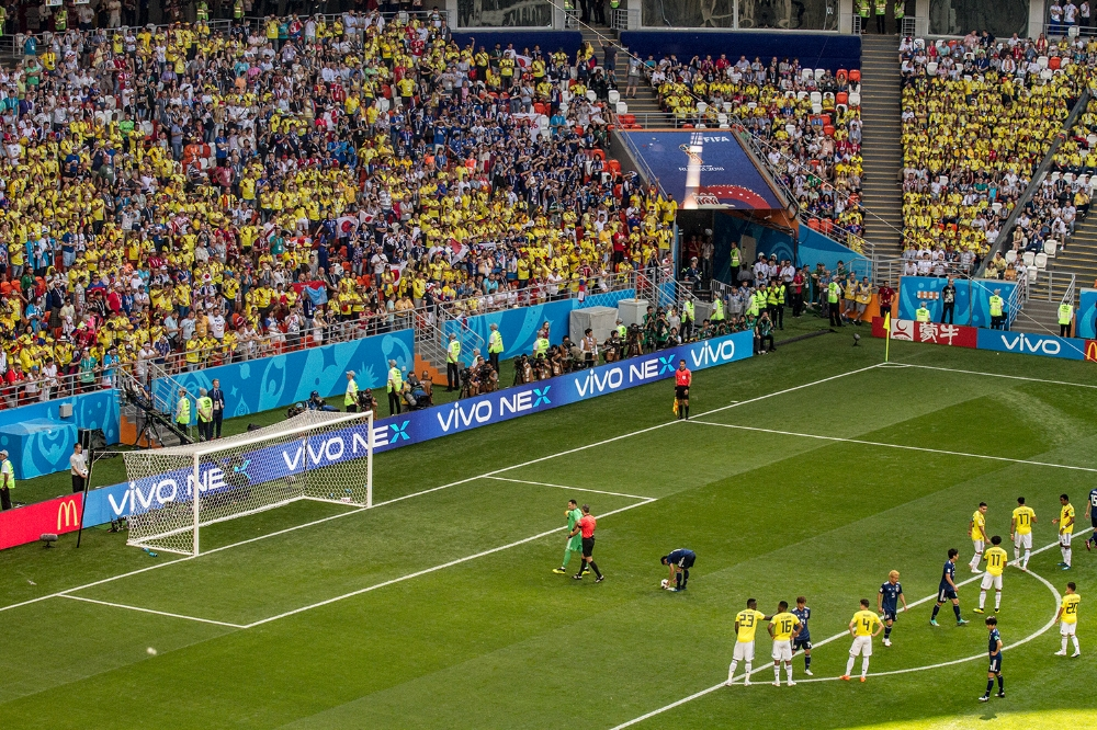 Things didn't start well for Colombia as we got a red card and Japan was awarded a penalty.