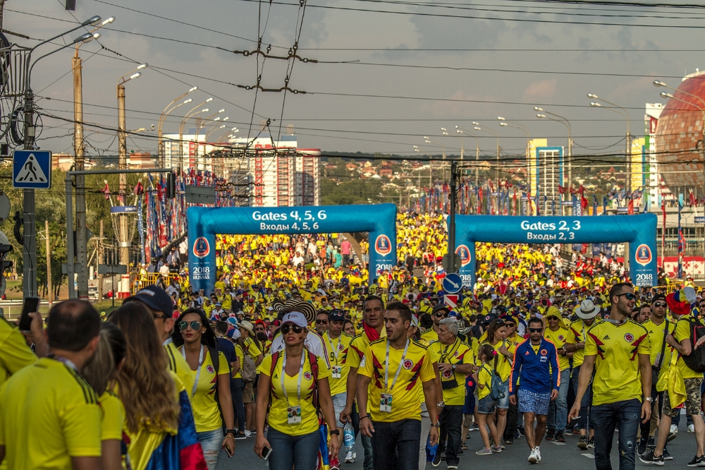 It was really great to see how thousands of Colombian fans came from all over the world to support their team.