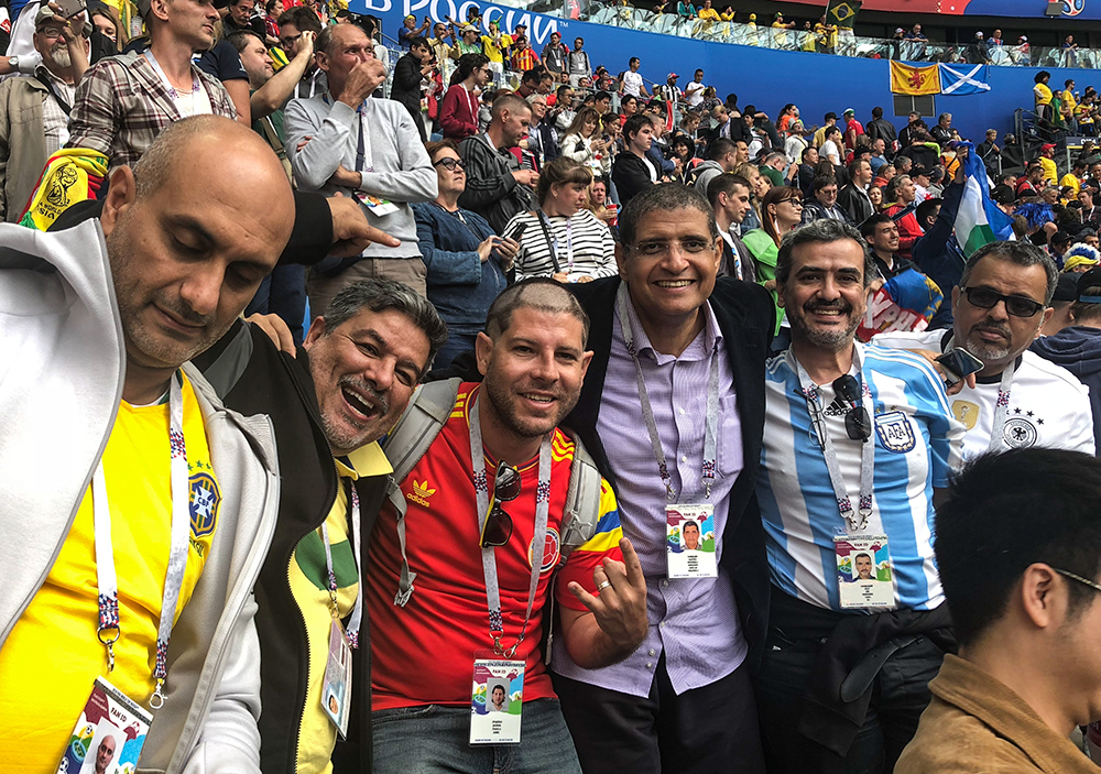 Thanks to my friend Mohammed, who let me seat with his family during the match.